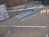 Barricade en acier galvanisée avec des pieds de passerelle