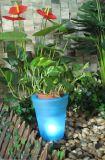 Bac en plastique facultatif de jardin de Flowerpot de quatre couleurs avec le panneau solaire