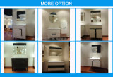 Governo di stanza da bagno bianco del PVC di vanità della mobilia dell'hotel della casa di rivestimento della lacca (BLS-17281A)