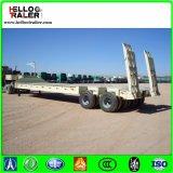 2 Semi Aanhangwagen van de Vrachtwagen Lowbed van de as de Op zwaar werk berekende