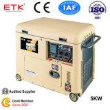 黄色い高品質の標準空気によって冷却されるディーゼル発電機セット(5kVA)
