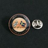 構成バッジメダル小さく安い折りえりPin
