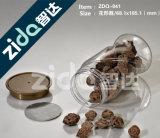 Clear Plastic Candy Jar 300ml, Tarro de plástico transparente, Tarro de plástico para mascotas con tapa roscada