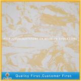 Quarzo di marmo artificiale costruito colore giallo per i controsoffitti, Worktops, mattonelle, lastre