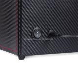 2+3 Zoll-Firmenzeichen-Kohlenstoff-Faser PU-Leder-Uhr-Winde