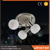 Новый обломок способа E14 обедая потолочная лампа крома 3 стекел