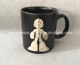 Tasse noire de 20 oz avec logo gravé au laser, tasse en céramique gravée au laser