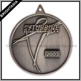 Medaglia del medaglione del metallo di qualità per l'attaccatura con la sagola (BYH-10366)