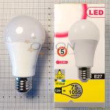 2 anos de luz da garantia A60 bulbo do diodo emissor de luz de 15 watts