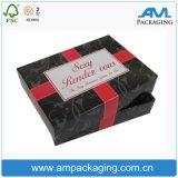 Пользовательские поля бумаги черного цвета для волос упаковка Wig окно для леди Салон красоты