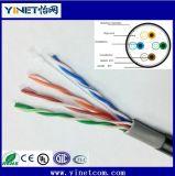Cable Cat5 UTP LAN al aire libre Cable 100% de cobre de Internet Resistente al agua Ce RoHS Certified