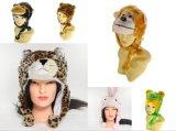 Cappello animale della protezione della peluche del fumetto sveglio