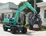 Excavador de la rueda con el compartimiento de la cubierta para la descarga del cargamento de sal