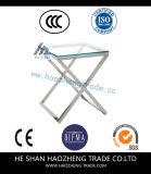 Tableau de thé en verre en métal de table basse de Hzct117 Remi