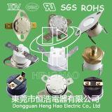 Ksd301 UL/TUV /CQC /RoHS 증명서를 가진 황급한 활동 보온장치 열 커트 스위치