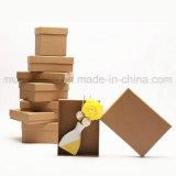 Rectángulos de regalo modificados para requisitos particulares de Brown del papel de Kraft del espacio en blanco de la buena calidad
