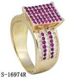 Серебристые Америки 14k позолоченными контактами кубических обедненной смеси кольца