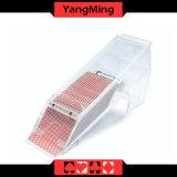 Transparência cheia/1 - 8 sapatas acrílicas do negociante dos cartões de jogo do póquer da plataforma com o espelho para jogos de jogo Ym - Ds04