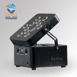 LA PARITÀ UV della batteria LED del Ce 12*18W 6in1 Rgbaw può per l'evento della fase