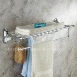 Hotel-Art-Badezimmer-Chrom überzogene Tuch-Zahnstangen-Messingbad-Tuch-Zahnstange
