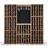 Customize Design Floor Garrafa de madeira Storage Wine Rack Cellar