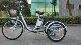 Triciclo elétrico da cidade grande do freio de disco En15194 da bateria de lítio do pneumático 250W Ebike