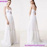 Платье венчания горячего сбывания просто белое с Outerwear
