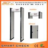 Singola camminata di zona tramite il cancello dello scanner del corpo di obbligazione della barriera di sicurezza