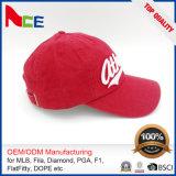 Guangdong OEM ODM 3D женщин вышитых шлем бейсбола Applique выдвиженческих красных