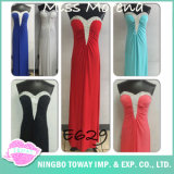 Partido longo vermelho da esfera do vestido formal que nivela vestidos Maxi