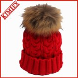 Moda Big Fur POM POM Warm Winter Beanie