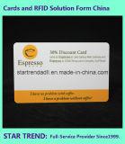 Cartão de plástico cartão PVC Cartão de visitas Cr80 Placa padrão de Cor