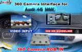 Caméra de recul Caméra de vision de face 360 Interface de caméra panoramique pour Audi / Mazda / Infiniti / Porshce / Honda avec des directives de stationnement actives