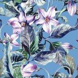 Tela de la impresión de la flor para el traje de baño (ASQ079)