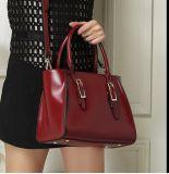 Signora di cuoio Handbags di modo dell'unità di elaborazione di stile dell'OEM della fabbrica di colore classico di contrasto