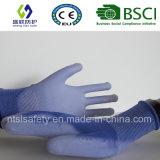 Голубая покрынная PU перчатка безопасности работы (SL-PU201B1)