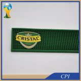 Alta calidad de logotipo en relieve de PVC blando de goma Beer Bar Mat