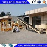 Machine de fabrication de briques de béton automatique entièrement automatique au Ghana
