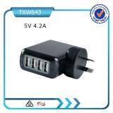 저희 EU Au 영국 Multiport USB 벽 충전기 4 운반 벽 플러그 충전기 이동 전화 충전기
