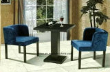 Tabela e cadeira de jantar confortável de Uphlstory da tela ajustadas (LL-BC084)