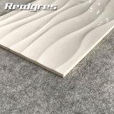 super weiße glatte glasig-glänzende keramische Wand-Fliesen der Wellen-300X600