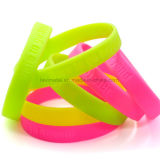 Wristband Colourful su ordinazione della gomma di Debossed di sport