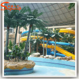 Сад оформление искусственных обманный прыжок из стекловолокна кокосовыми пальмами