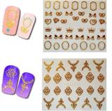 Стикеры ногтя стикеров искусствоа ногтя металла Fashinal 3D
