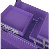 현대 솔 홀더와 자물쇠를 가진 동향 트레인 상자 메이크업 조직자를 체중을 줄이십시오