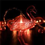 Batterie Powered 10 Flamingos Chaîne Fée lumière pour la décoration de jardin