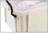 Hotsale Haut de la qualité première de taille moyenne de la médecine en plastique de l'aide Boîte à fort impact multifonction Drug Boîte de rangement pour le ménage