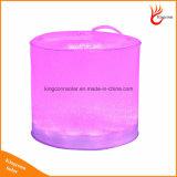 Portable Outdoor Couleur 10LED Changement gonflable Lanterne solaire pliable Camping Lumière