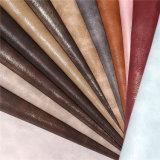 Cuero de zapato artificial de la PU de la firmeza de alto color con efecto de la perla
