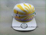 عادة شحّان قبعة/شبكة قبعة مع جلد رقعة علامة تجاريّة تصميم